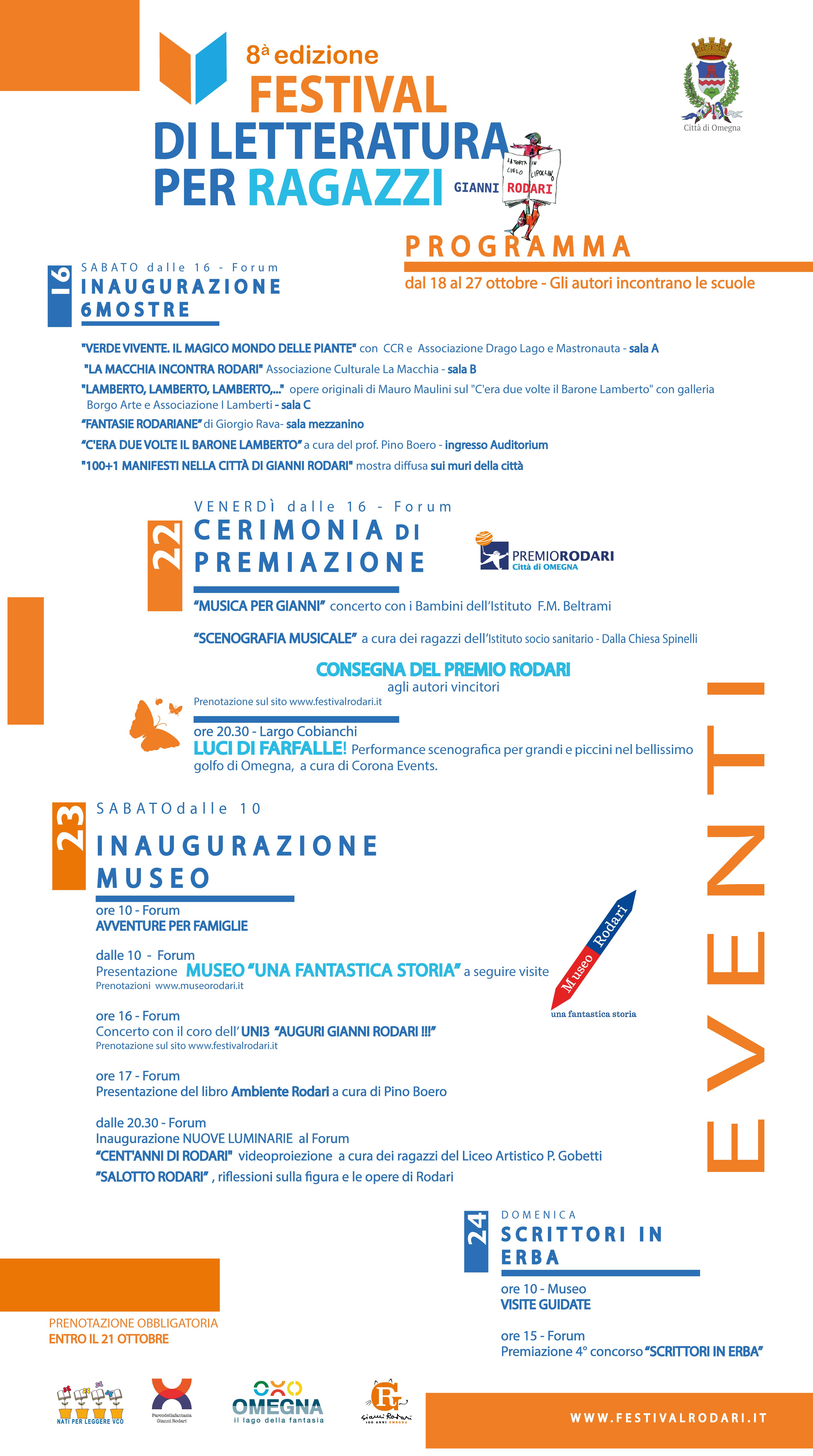 Festival di letteratura per ragazzi 'Gianni Rodari' 2021